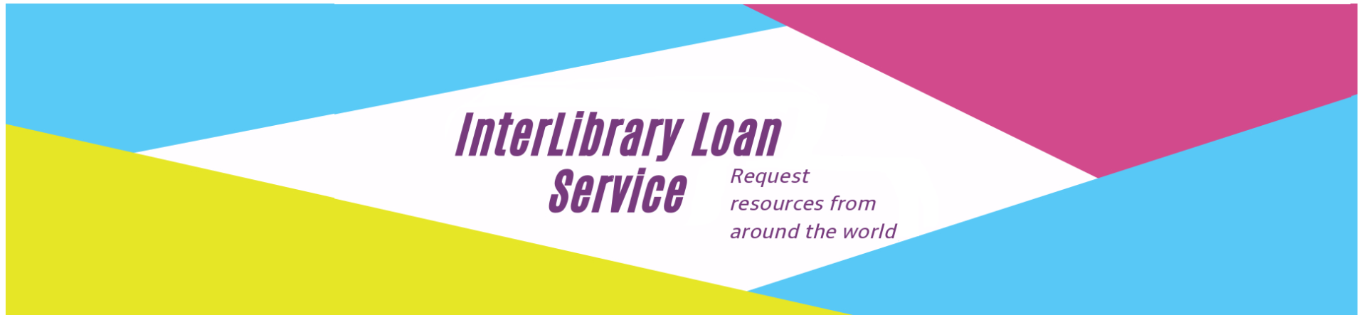 Interlibrary loan promotional banner