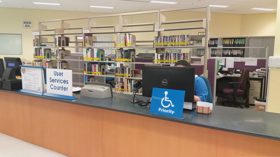 Accessible User Services Counter at SMCL