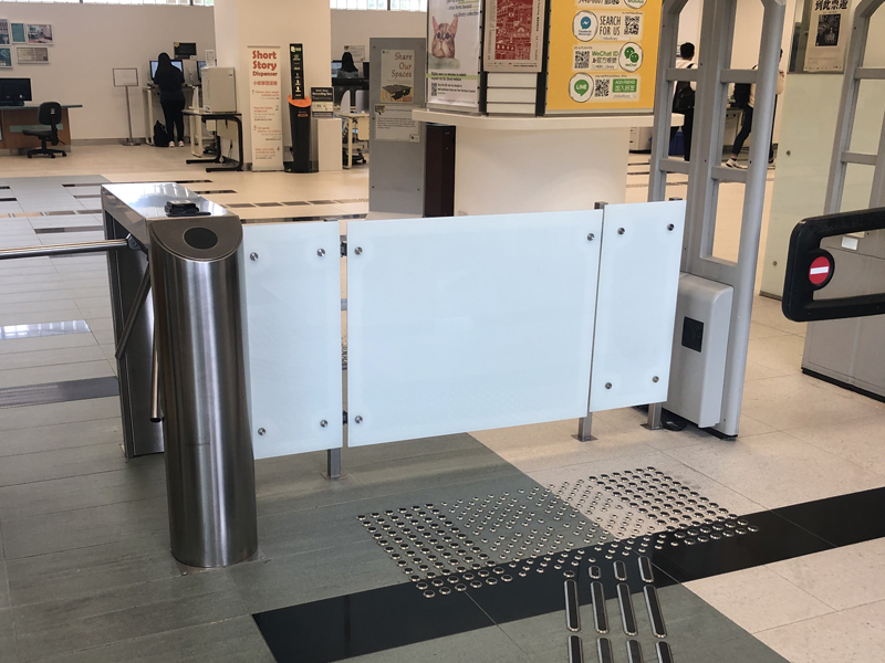 Wheelchair accessible gate at the Main Library entrance